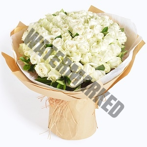 Order White 99 Rose Bouquet Singapore