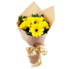 simple yellow gerbera Hand Bouquet Singapore