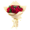 Cheap red roses hand bouquet