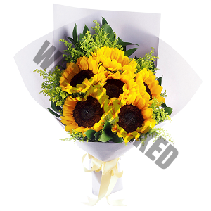 buy sunflowers Hand Bouquet