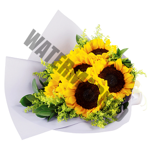 buy sunflowers Hand Bouquet Singapore