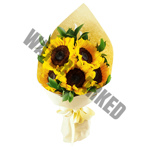 simply sunflowers Hand Bouquet Singapore