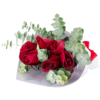 6 simple red roses Hand Bouquet Singapore