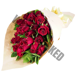 50 red roses Hand Bouquet Singapore