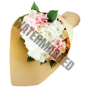 white and pink Hand Bouquet Singapore cheap