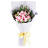 pink roses Hand Bouquet Singapore
