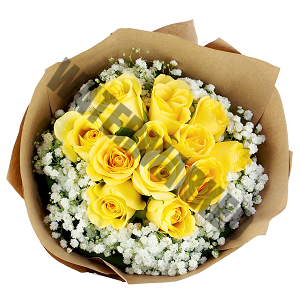 cheap yellow roses Hand Bouquet Singapore