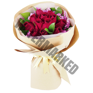 online red roses Hand Bouquet Singapore