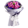 cheap purple roses Hand Bouquet Singapore