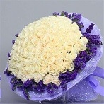 Buy White 99 roses bouquet Singapore