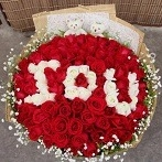 I love you 99 Rose Bouquet delivery Singapore