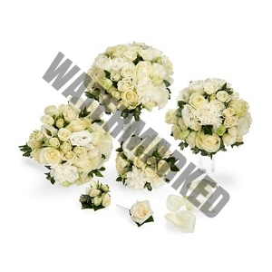 Best white roses and eustomas Bridal Bouquet Singapore