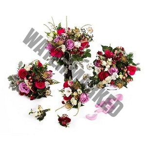 rustic wild flower Online Bridal Bouquet Singapore package