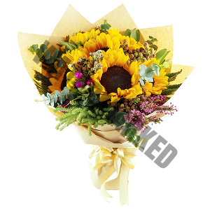 Sunflower Rustic Hand Bouquet Singapore