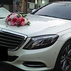 pink red purple roses bridal car deco singapore