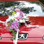 modern design flower wedding car decoration service