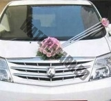 simple pink roses Bridal and Wedding Car Decoration Singapore