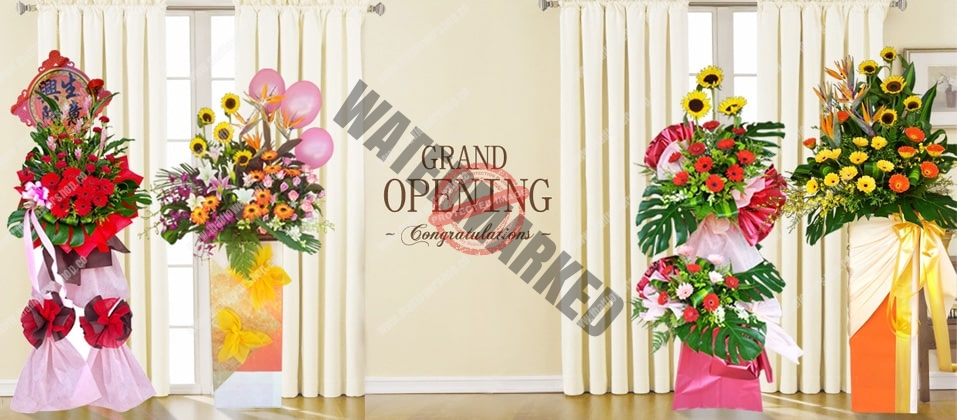 Shop grand opening flower stand online