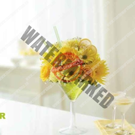A Garden in Your Glass: Floral Cocktail Idea