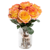 buy 6 orange rose vase in Singapore
