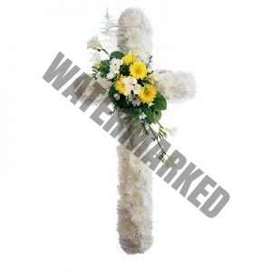 WS-20 PEACE FUNERAL CROSS WREATH