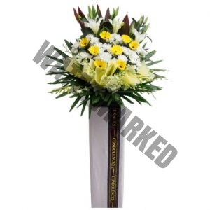 WS-19 COMPOSED FUNERAL FLOWER STAND