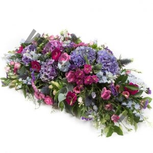 coffin top flowers